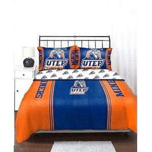 NCAA Mascot twin Bedding Comforter Set-UTEP Miners